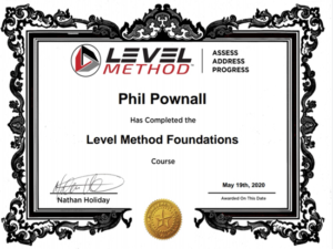 Level Methos Certificate