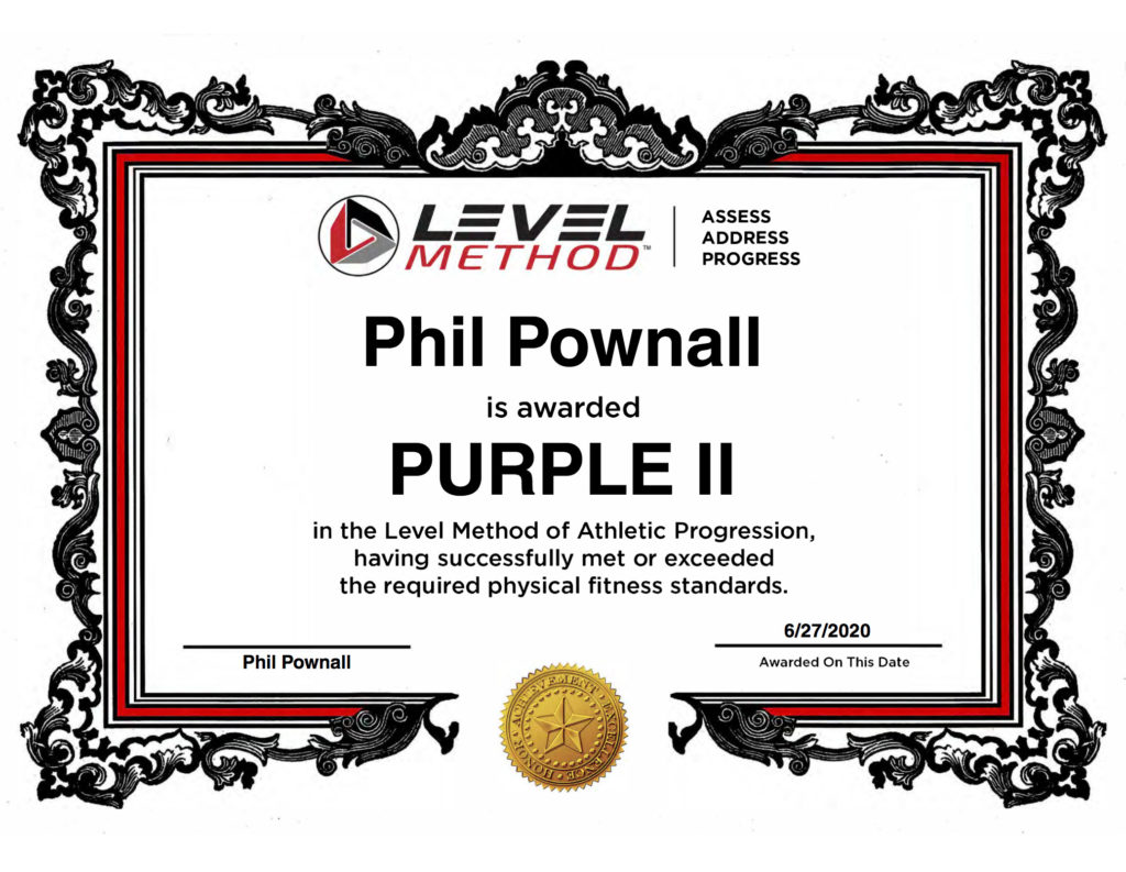 Level Method Certificate